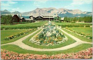 Glacier Park Lodge and garden in Glacier National Park northwest Montana