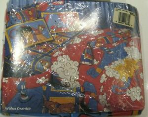 NEW Disney's Aladdin 3-Piece Twin Sheet Set VTG 90s Genie Poof Abu SEALED