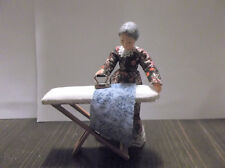 Miniature Doll House Wood Non Folding Ironing Board With Iron