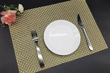 6 x Placemats Table mat  PVC Package-Heat Resistant & Washable Golden Color