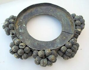 RARE ANCIENT ANTIQUE TRIBAL OLD METAL GAJRE BRACELET
