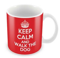 KEEP CALM and Walk the Dog - Coffee Cup Gift Idea present animal lover walkies