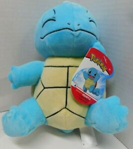 """Pokemon 8"""" Plush Squirtle Wicked Cool Toys -New With Tags"""