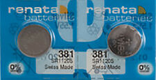 0% Mercury equivalent Sr1120S, Swiss Made 2 x Renata 381 Watch Batteries,