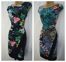 NEW WALLIS FLORAL SHIFT DRESS BODYCON WRAP TROPICAL BLACK GREY TEAL PINK 8 - 18