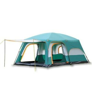 Large Camping Waterproof Family Tent For Outdoor Double Layers 8 10 12 Person