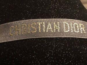25cm sequin rare white/gold Christian DIOR PIECES AUTHENTIC CD RIBBON Xmas BOWS