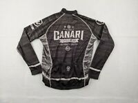 Canari Cycling Jersey Adult Medium Men Full Zip Black White Long Sleeve Riding