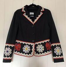 Jeremy Scott Adidas Women's Bomber Jacket Coat Black Nylon Embroidered Size S | eBay