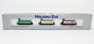 """N Scale Arnold 0238 """"Holledau-Zug"""" 3-Beer-Car's w/ Brakeman's Cabin Set LNIB"""