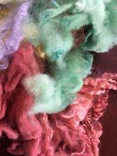 Spinning Felting Wooll Goody Bag Mixture Wool Mixture Yellow Red Blue 3