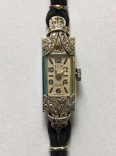 Beautiful Antique 1930s Ladies Diamond And 18 Carat White Gold Watch.