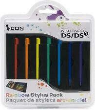 Nintendo DS / DSi  Rainbow Stylus Pack & Travel Game Case Holder   NEW