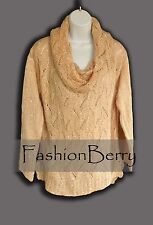 New! NY Collection Sweater Color Tessa Size L Reg. Price $54.00