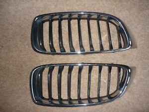 GENUINE BMW 4 Series F32 F33 F34 2x Front Kidney Grilles Grill 7294813 7294814