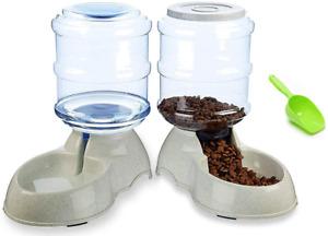 dispensador de comida y agua para perros alimentador comedero perros gatos nuevo