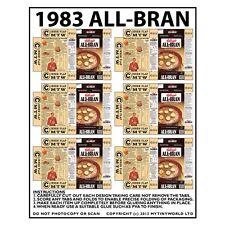 Puppenhaus Miniatur Verpackung Blatt 6 1983 All-Bran