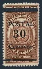 Ecuador 416,MNH.Michel 491-I. Surcharged POSTAL 30 Centavos and bars 1943.