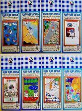 EIGHT Hebrew SHANA TOVA Cards TNUVA KOSHER DAIRY Advertising MILK Jewish JUDAICA