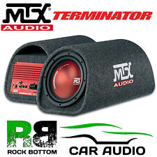 "MTX TR8PT 360W 8"" Active Amplified Sub Subwoofer Enclosure Box Car RED Bass Tube"