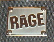 RAGE : PATCH en Metal - Logo NEUF ecusson parche