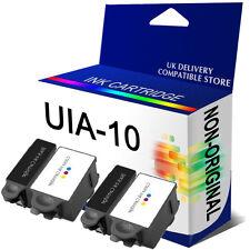 2 Full Set Ink Cartridges 2 Black ABK10 + 2 Colour ACRL10 REP for Advent Printer
