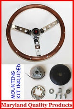1967-68 Pontiac GTO Lemans Firebird GRANT Wood Steering Wheel Walnut 13 1/2""""