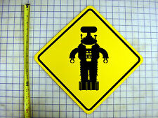 Robot B9 (Lost In Space) Yellow Aluminum Sign