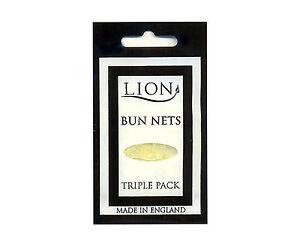 BUN NETS x 15, Five Triple Packs, Lion Hair Care, Best Quality, ALL 7 COLOURS.