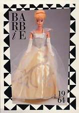 "Barbie Collectible Fashion Trading Card "" Cinderella Ball Gown "" Gloves 1964"