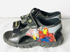 Marvel Heros Toddler Boys 11.5 Light Up Sandals Ironman Thor Spider-Man