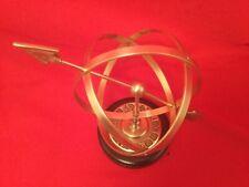 Sundial Brass with Arrow Novelty Indoor Felt Desk Astronomy