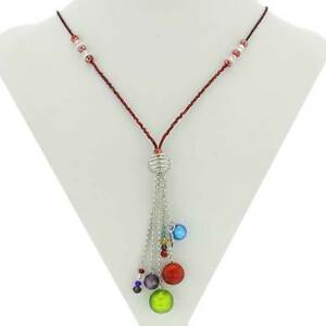GlassOfVenice Murano Glass Sorgente Necklace - Multicolor