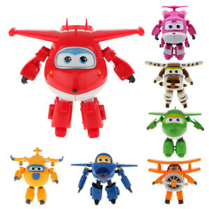 TV Animation Super Wings Transforming Plane Robot Vehicle kids Toys Characters