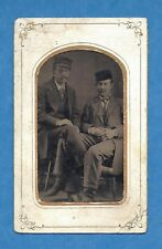 """Tintype of Two Affectionate Men- """"Lets Play Leg Twister""""- Gay Interest!"""
