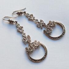 Antike Ohrringe aus Silber mit Markasit   wohl USA um 1925 Original aus der Zeit