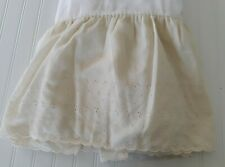 Regency Home Fashions Eyelet Bed Skirt QUEEN SIZE Ivory Scalloped Edge USA Made
