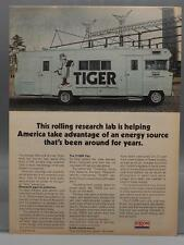 Vintage Magazine Ad Print Design Advertising Exxon Tiger Research Lab