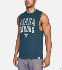 "Under Armour x Project Rock ""Mana Strong"" Tank Top Navy Men's X-Large 1326385"
