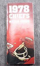 Vintage Original Kansas City Chiefs 1978 Media Guide NFL Football