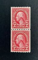 US Stamps, Scott #606 pair 2c 1923 2020 PSE Certificate - Graded XF 90 M/NH