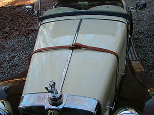 Leather (Bonnet) Hood Strap Singer Gazell Fiber Fab MG TC MG TD MG TF(SB)