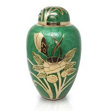 Adult Cremation Ashes Urn Large Urn for Ashes Funeral Memorial Urn Green Urn