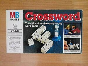 Crossword Game - 1978 Milton Bradley - 100 % Complete