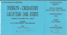 RARE / TICKET BILLET DE CONCERT - THERION : LIVE A LYON ( FRANCE ) 1997
