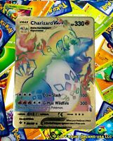 Champions Path Rainbow Charizard VMAX Custom Gold Metal Pokemon Card Champions P