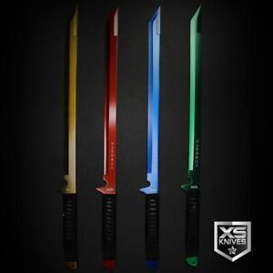 "Epic Colors 26"" LASER TANTO Sword Machete Ninja Full Tang Fixed Blade + SHEATH"