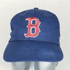 BOSTON RED SOX Blue Red 3D Logo TEAM MLB Adjustable Baseball Hat Cap