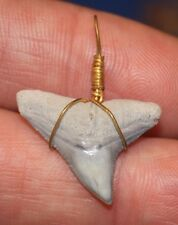 SHARK TOOTH NECKLACE FLORIDA FOSSIL BONE VALLEY TEETH BEACH JEWELRY PENDANT