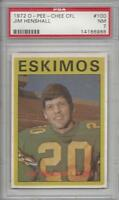 1972 OPC football card #100 Jim Henshall, Edmonton Eskimos PSA 7 NM CFL Canadian